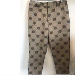 Urban outfitters ankle pants with tiger head